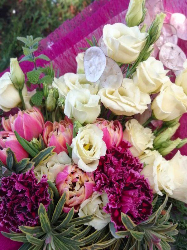 Katalin napi őszi csokor import virágokból